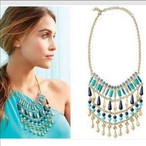 Stella & Dot Malta Bib Necklace - Like New!